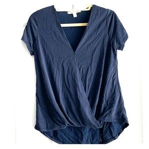 Business casual top (navy blue)